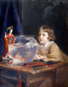 Laszlo, John Adolphus de, and a Goldfish Bowl 11622