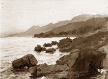 Landscape: A Rocky Sea Shore with Promontories Beyond 110874