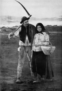 Genre Picture: A Peasant Couple Walking in a Landscape 9004