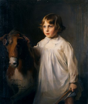 John de Laszlo with a Rocking Horse / 110846