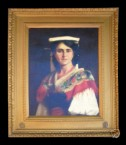 Forgery: A Lady in a traditional costume with a headdress 111391